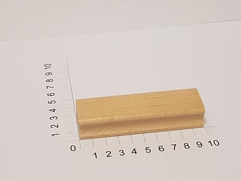 """Holzstempel """"Schulstempel"""" 30 x 100 mm"""