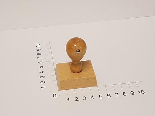 Holzstempel mit Zapfen 40 x 50 mm