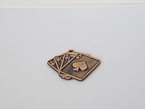 Medaille Spielkarten Gold
