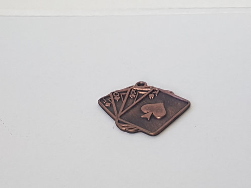 Medaille Spielkarten Bronze