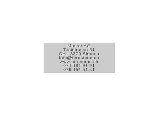 Textplatte Trodat Printy 4931 - Textstempel - 70 x 30 mm - 7 Zeilen