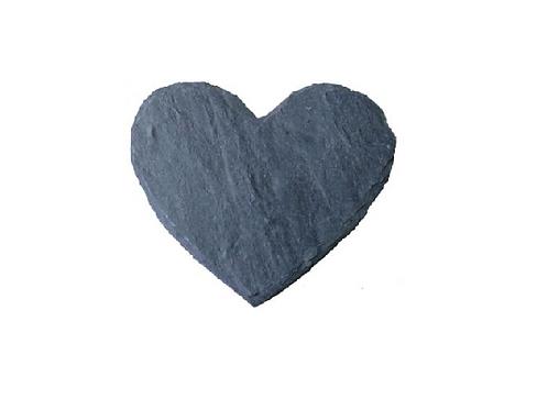Schiefer-Herz 12cm x 10cm mit Gravur