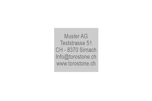 Textplatte Trodat Printy 4933 - Textstempel - 25 x 25 mm - 5 Zeilen