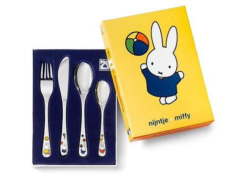 Kinderbesteck mit Gravur Miffy spielt 4-teilig