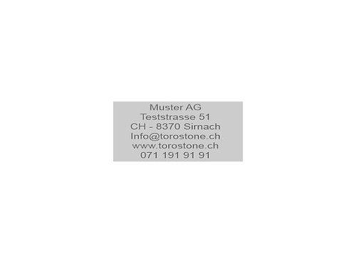 Textplatte Trodat Professional 5204 - Textstempel - 56 x 26 mm - 6 Zeilen