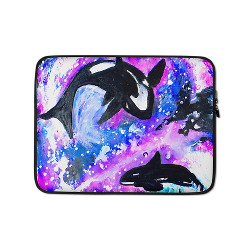 Whales in Space Laptop Sleeve