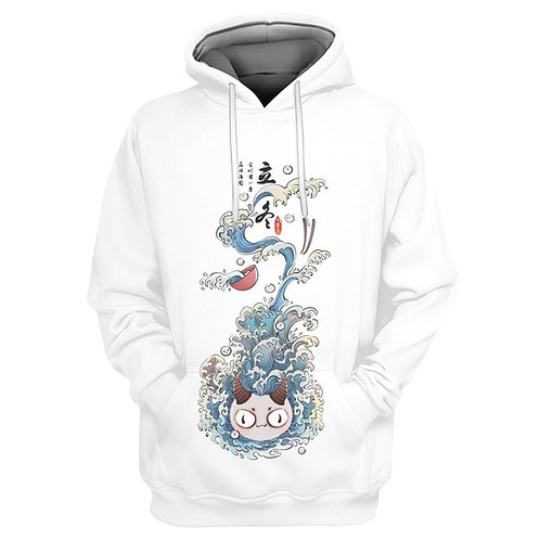 Glutinous rice balls Monster Anime pullover hoodie
