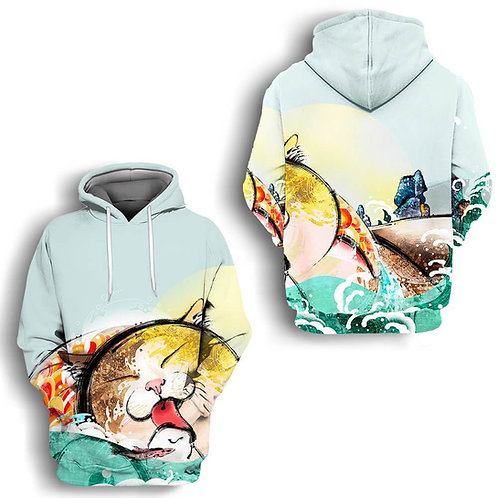 Cat Anime High quality Oem pullover hoodie