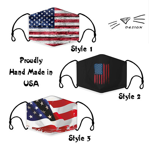 American Flag, Washable, Reusable, Fashion Adult Children Face Mask