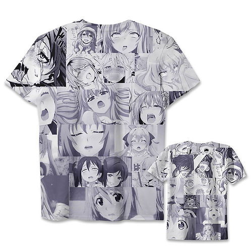 Ahegao Anime High quality Oem pullover T-shirt