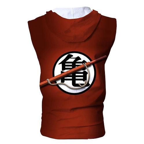 Dragon ball Summer hoodies Gym Fitness Sleeveless Zip Vest