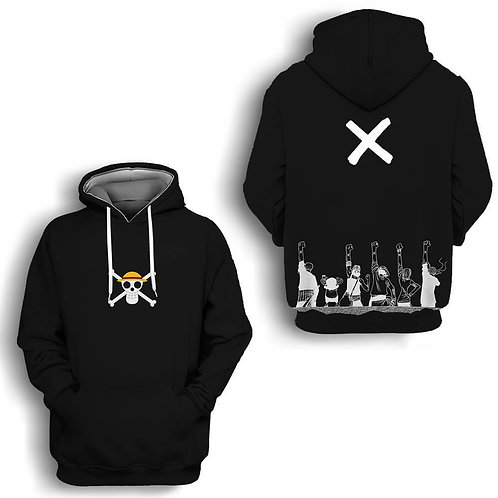 One Piece Raise Hand Anime pullover hoodie