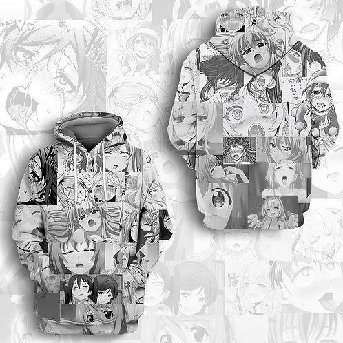 Hentai Ahegao Manga Style Anime pullover hoodie