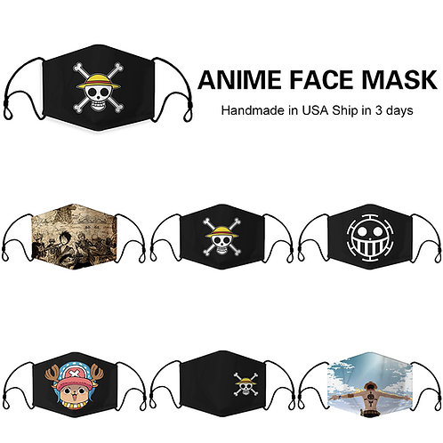 One Piece Anime Fashion Face Mask Full Coverage