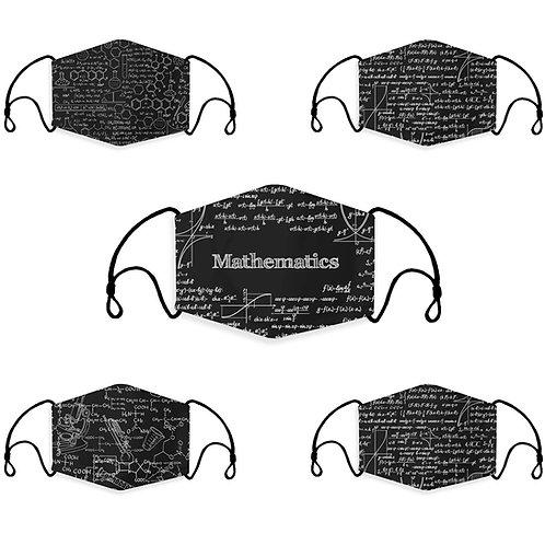 Equation, Math, Chemistry, Science Face Masks, Washable, Reusable