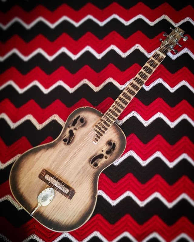Number 190 Plywood Parlor Guitar... my second acoustic build is complete