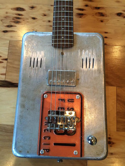 cake pan guitar