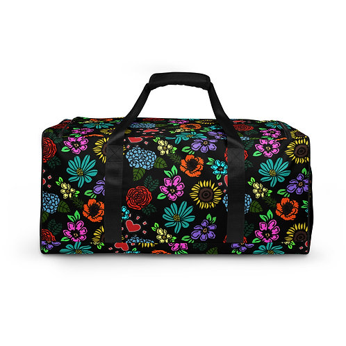"""""""Scattered Floral"""" Duffle Bag"""