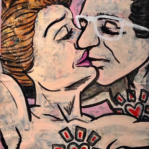"""The Kiss"" (Framed & Signed Print)"