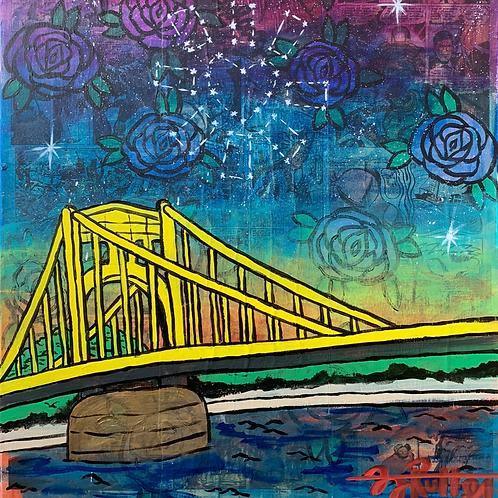 """Roberto Clemente Bridge"" (Framed & Signed Print)"