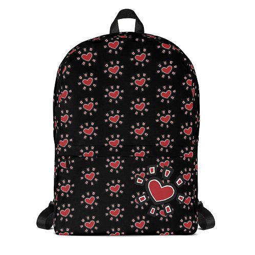 """Sun Heart"" Backpack (Black)"