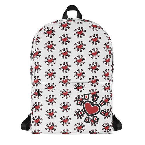 """""""Sun Heart"""" Backpack (White)"""