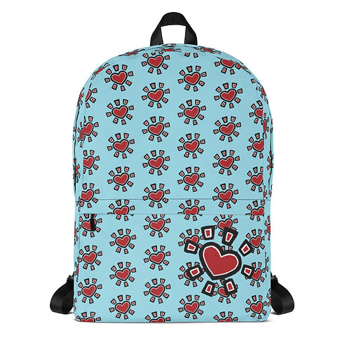 """Sun Heart"" Backpack (Blue)"
