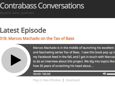 Marcos Machado: Contrabass Conversations