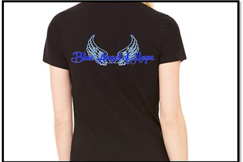 BOAH Women's Fit Black T-shirt