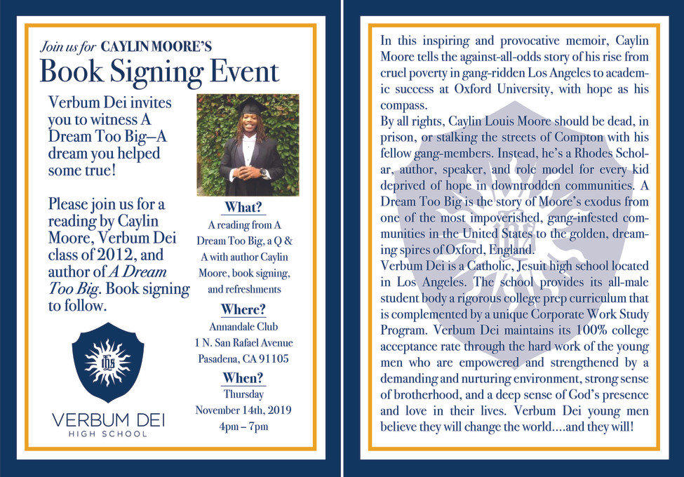 Book Signing Event Card
