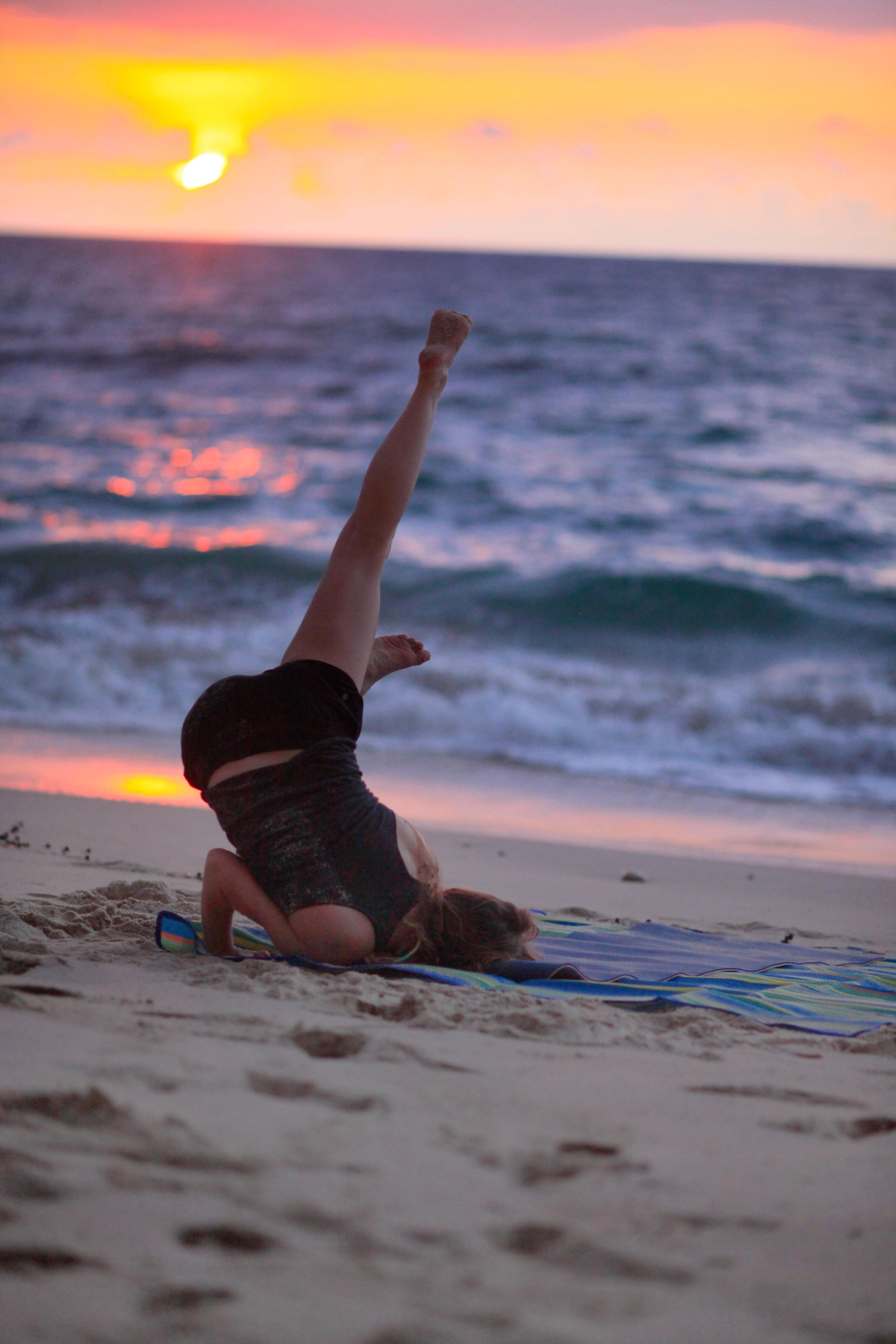 Beach Yoga at Sunset