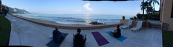 Sounds and View when doing yoga
