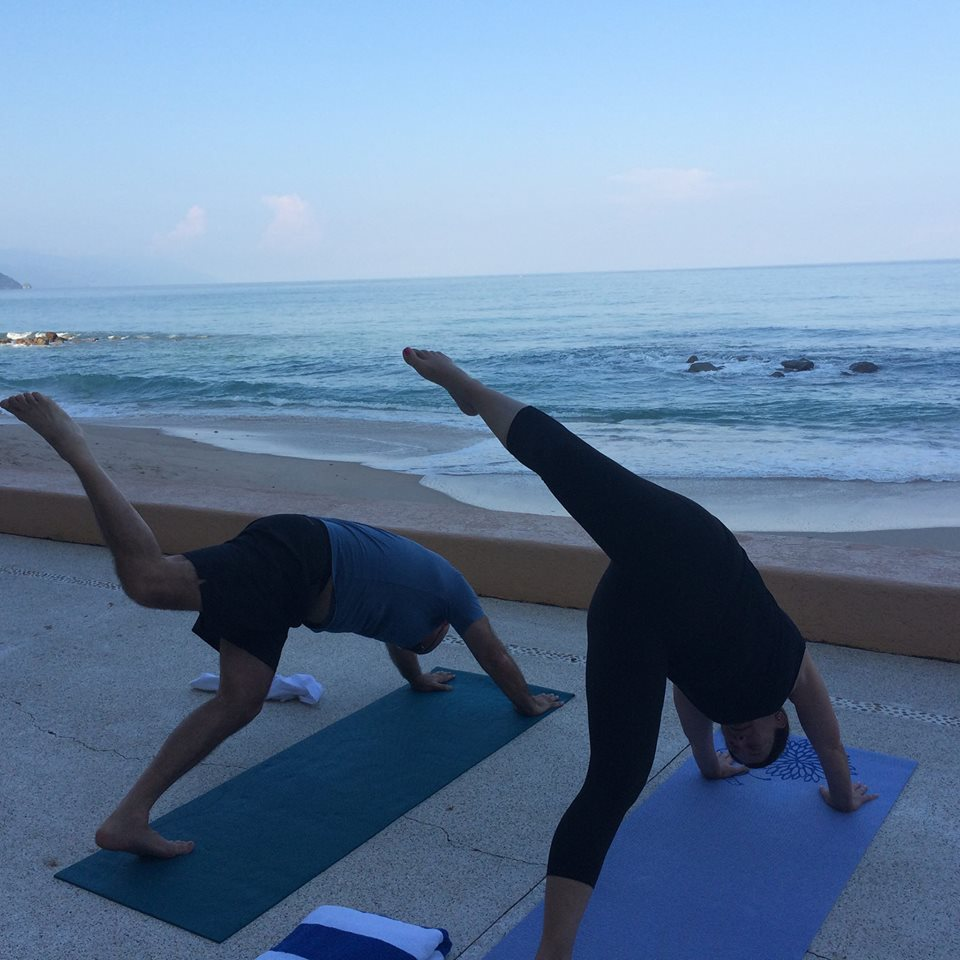 Hear the waves while doing yoga