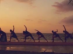 Nothing better than sunset yoga