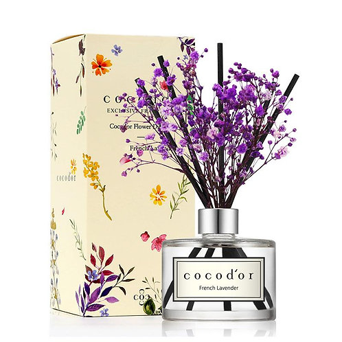 Preserved Real Flower Diffuser: French Lavender