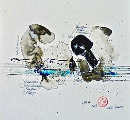 ABSTRAIT (chine) - LALA - x7 - 40 x 40.j