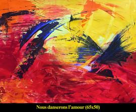 1BARRE - Nous danserons l'amour - 65 x 5