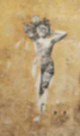 LE ROY Jean-Paul - Femme mur - 30 x 40.j