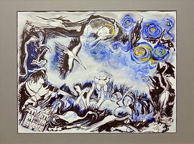 SANTACROCE Odette - Nuit étoilé - 80 x 6