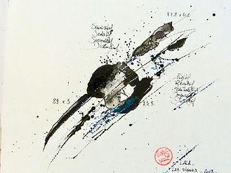 ABSTRAIT (chine) - LALA - x3 - 25 x 25.j
