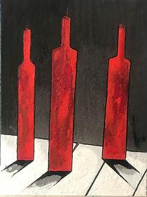 LUSSATO_Elio_-_3_bouteilles_rouges_sur_f