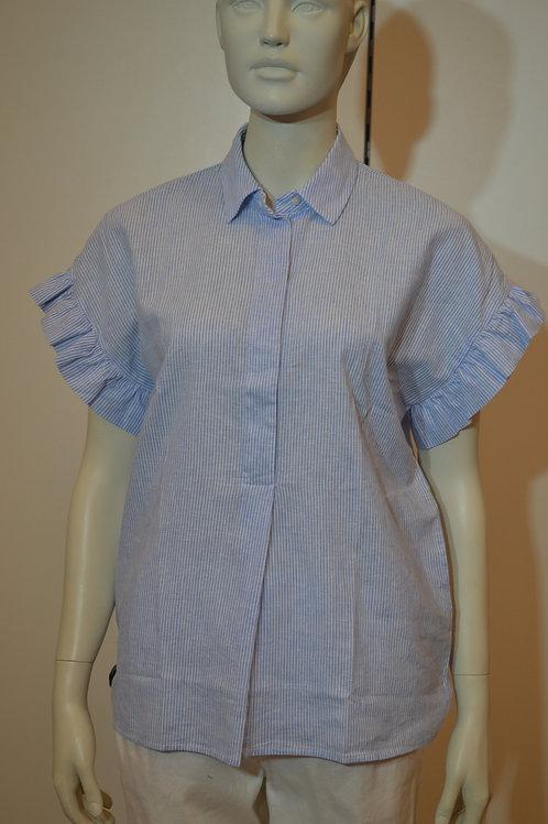0039 Italy Bluse blau weiß gestreift
