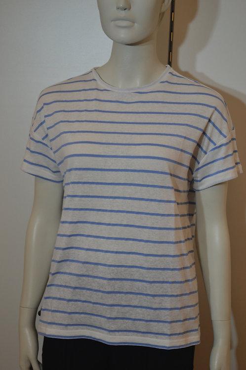 Opus T-Shirt blau-weiß gestreift