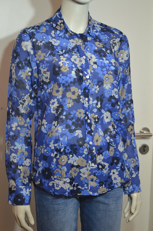 Gant Bluse blau geblümt