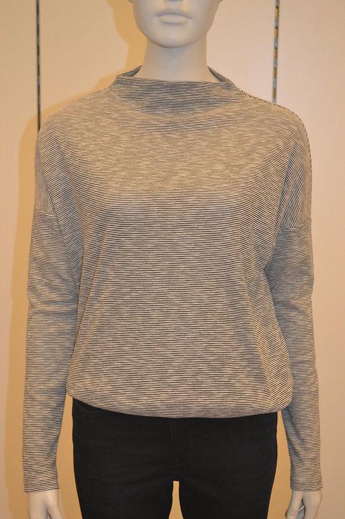 Opus Shirt schwarz/weiß Streifen