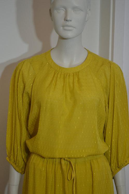 Set Bluse senf/ gold