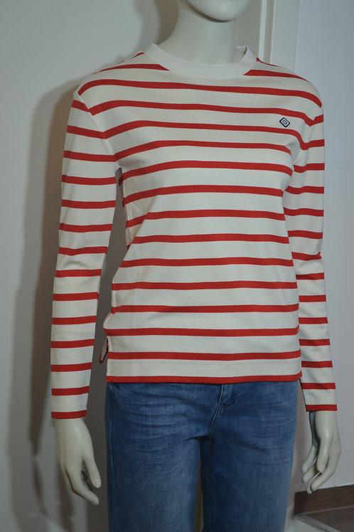 Gant Sweater rot/ weiß gestreift