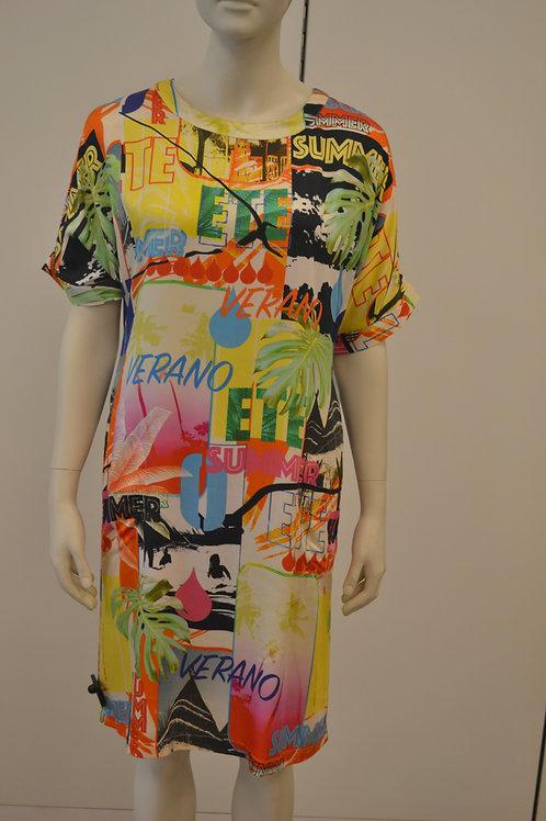 Frogbox Kleid mit bunten Print kurz
