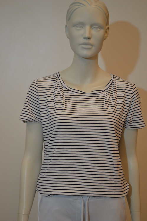 Better rich T Shirt blau/weiß dünne Streifen