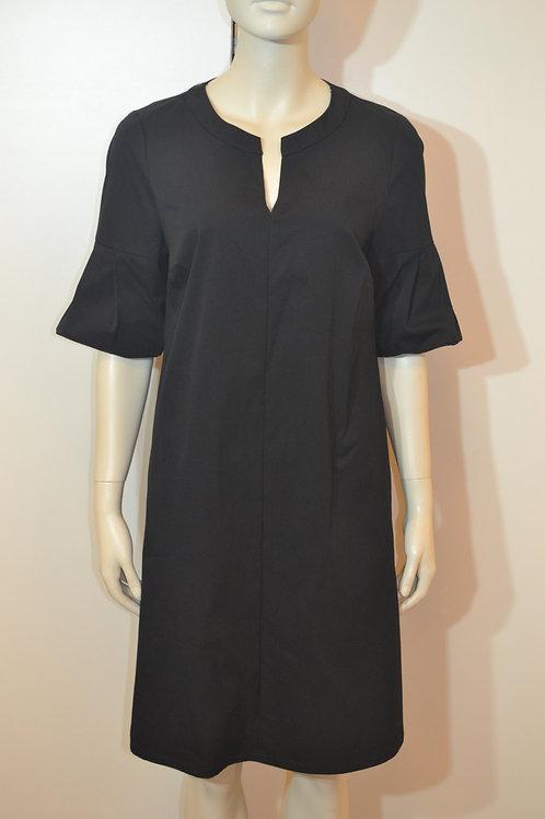 Robe legere Kleid schwarz mit Puffärmeln